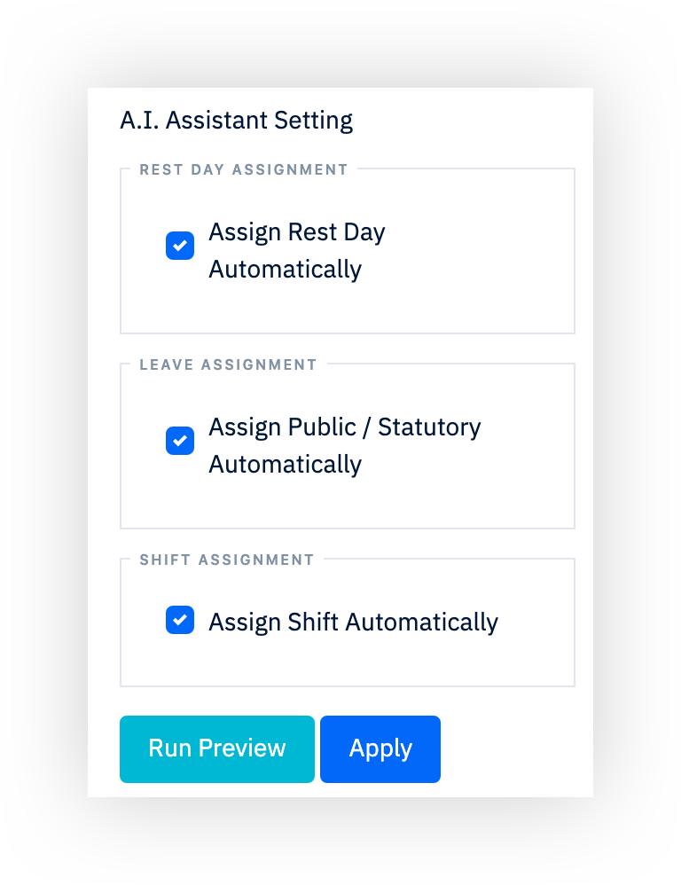 AI roster system, AI employee scheduling system